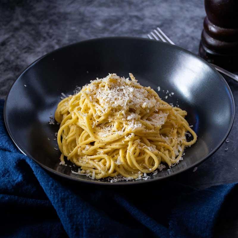 Cacio e pepe sa svježim Aurelia špagetima